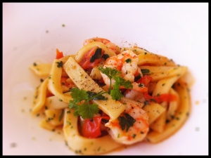 Sciallatielle Pasta with Shrimp