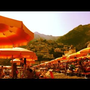 Positano, Beach, Amalfi Coast, Italy