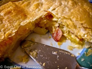 Cheese, Onion and Bacon Pie