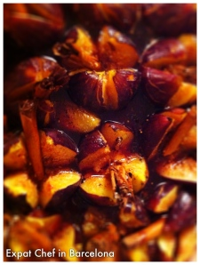 Baked figs in honey