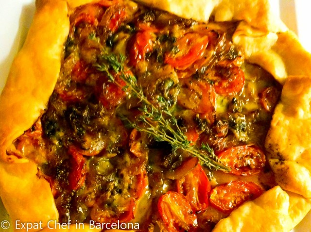 Cherry Tomato, Roquefort, and Caramelized Onion Tart