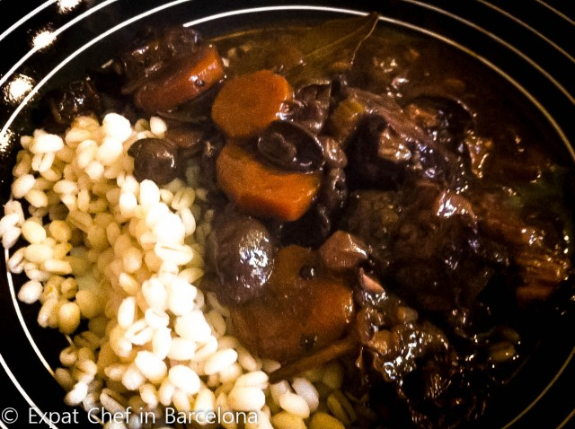 Beef and Wild Mushroom Stew with Pearled Barley