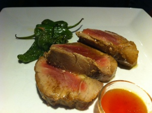 Yellowfin Tuna with smoked salt and tomato confit