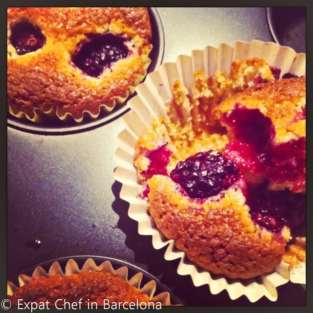 Blackberry and Cornmeal Muffins